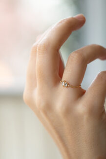 Celine Daoust Slice of the Universe Two Diamonds Ring and eye diamonds ring