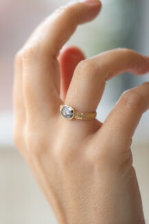 Celine Daoust Totem Grey Diamond and Diamonds Ring