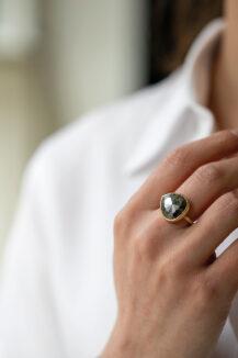 Celine Daoust Slice of the Universe Faye Grey diamond Ring