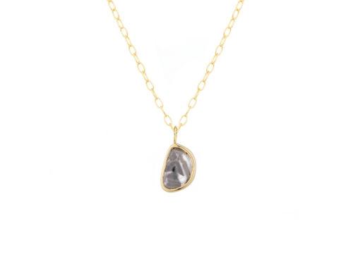 Celine Daoust_Slice of the Universe Grey Diamond Slice Necklace