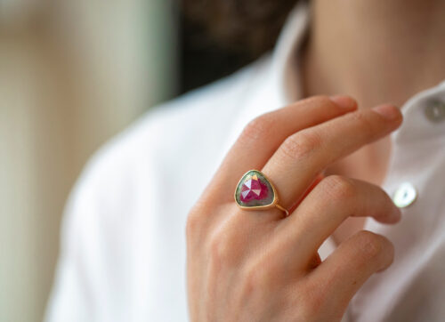 Celine Daoust_One of a Kind Stella Tourmaline and Diamond RingCeline Daoust_One of a Kind Stella Tourmaline and Diamond Ring
