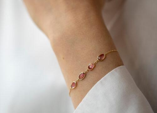 CelineDaoust One of a kind Multi tourmalines chain bracelet