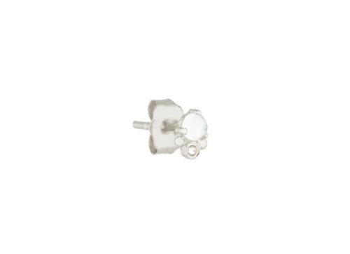 Celine Daoust Constellation Moonstone and reversed setting diamonds Earrings Studs white