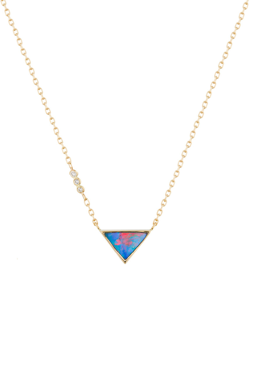 Celine Daoust One of a Kind Opal with small diamond Necklace
