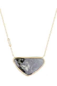 Celine Daoust_Slice of the Universe Grey Diamond and three diamonds Necklace