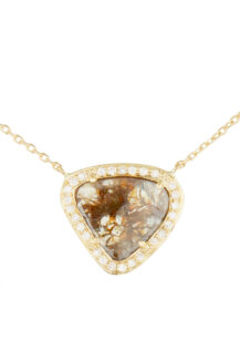 Celine Daoust Slice of the Universe Stella Grey Diamond and Diamonds Necklace
