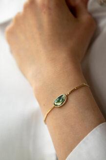 Celine Daoust One of a Kind Tourmaline Articulated Bracelet