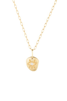Celine Daoust Protection and Believes Eye and Diamond Necklace