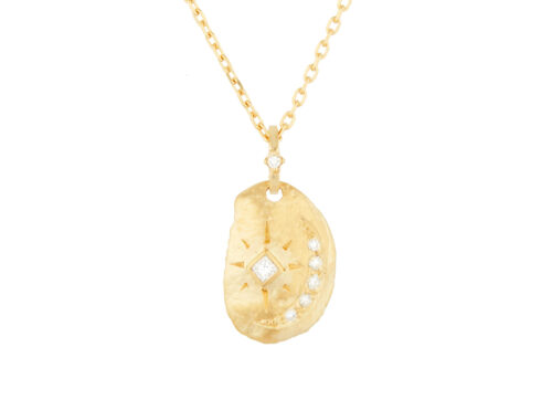 Celine Daoust Protection and Believes Sun & Diamond Moon Necklace