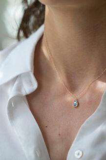 Celine Daoust Slice of the Universe Grey Diamond Slice Necklace