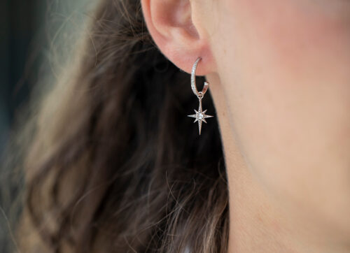 Celine Daoust Stars and Universe Mini Sapphire Star Earring Charm white