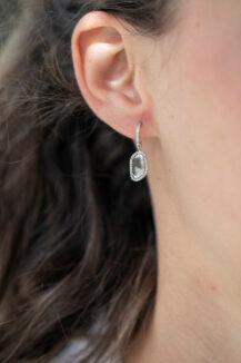 Celine Daoust Slice of the Universe Grey Diamonds Slices & Diamonds Hoop Earring