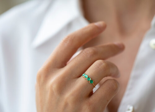 Celine Daoust One of a Kind Emerald ring