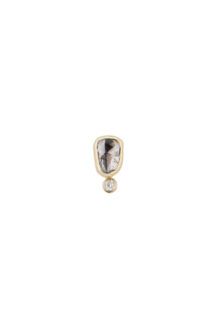 Celine Daoust One of a Kind Grey Diamond and Dangling one Single Earring