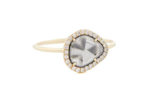 Celine Daoust Slice of the Universe Stella Grey Diamond slice and Diamonds Ring