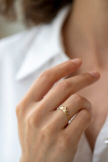 Celine Daoust Protection & Believes Diamond Crown Ring