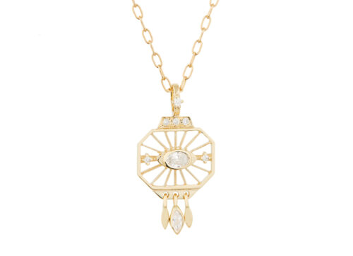Celine Daoust Protection & Believes Eye Diamond and Marquise Necklace