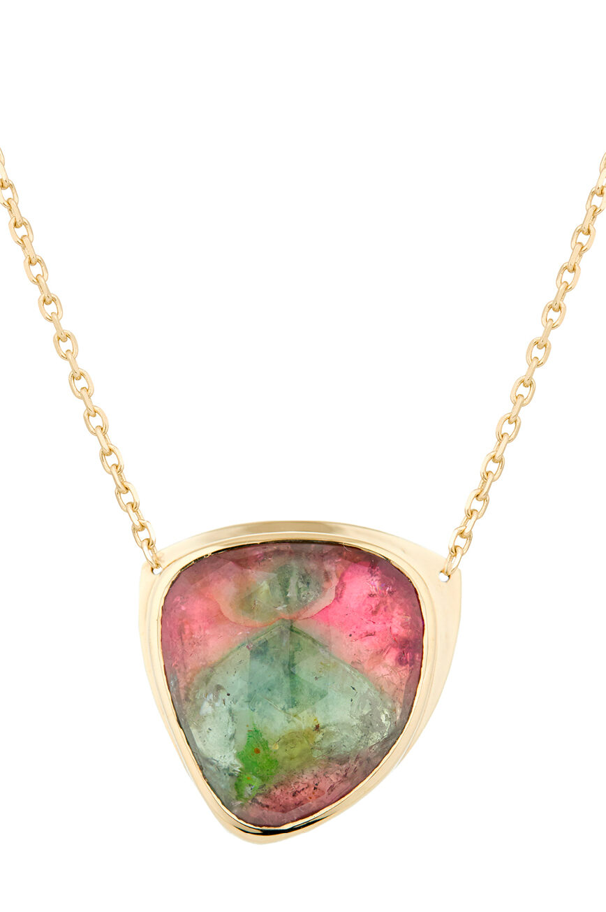 Celine Daoust One of a Kind Tourmaline Shadow Plate Necklace