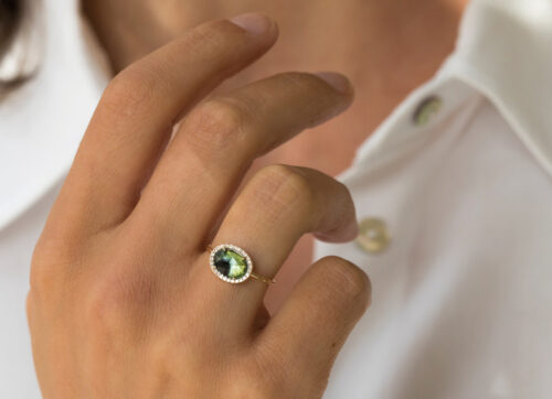 Celine Daoust One of a Kind Stella Tourmaline and Diamond Ring