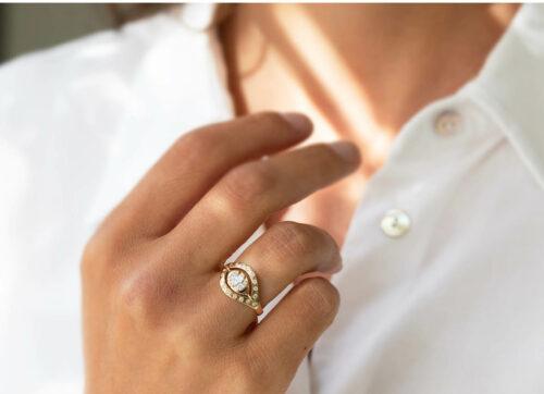 Celine Daoust Mandala Triple Marquise Eye Ring