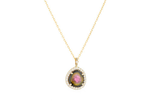 Celine Daoust One of a kind Tourmaline and Diamonds Necklace