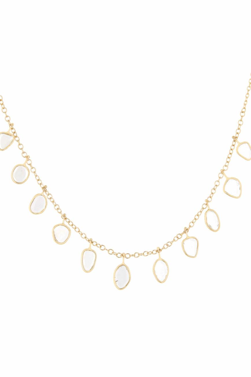 Celine Daoust Slice of the Universe multi Grey Diamonds slices and rosecut Diamonds Necklace