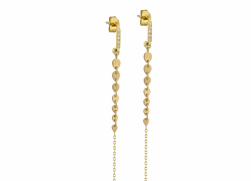 Celine Daoust Protection and Believes Hearts Chain Earrings