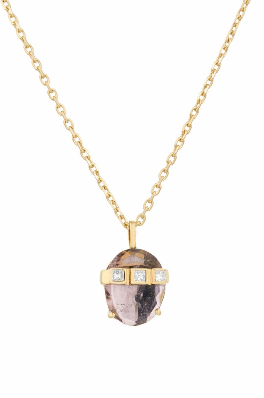 Celine Daoust Tourmaline and Diamonds Necklace