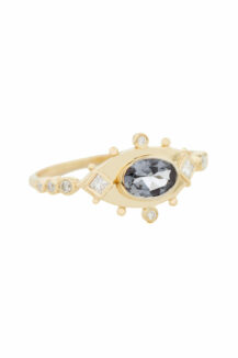 Celine Daoust One of a kind Sapphire and Diamonds Ring
