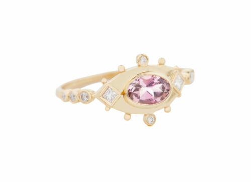 Celine Daoust One of a kind Tourmaline and Diamonds Ring
